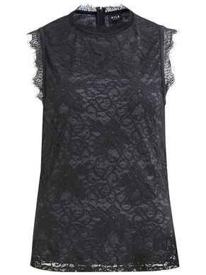 LACE SLEEVELESS TOP