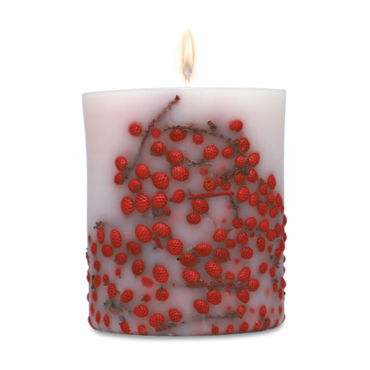 Fruit & Flower Candle Red Berries, , large