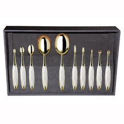 Elite Gold 10 Brush Set - Limited Edition, , large