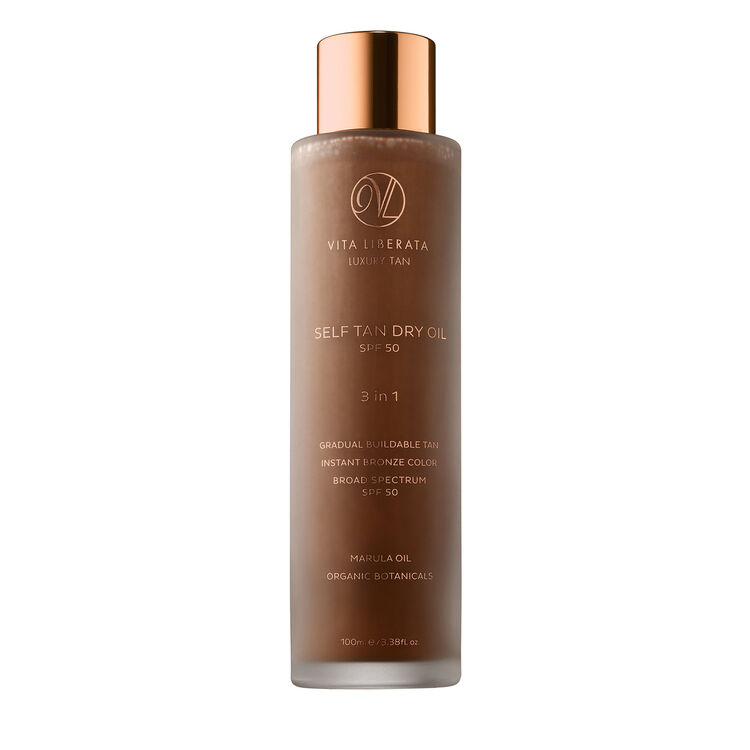 Self Tan Dry Oil SPF50 with Marula Oil, , large