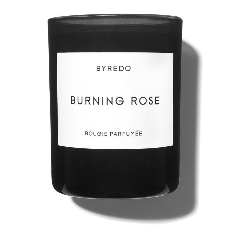 Burning Rose Candle, , large