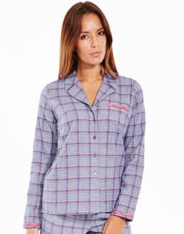 Calvin Klein Flannel Long Sleeve PJ Top