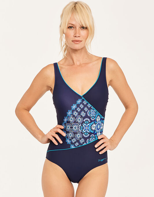 Zoggs Craftwork Wrap Front Swimsuit