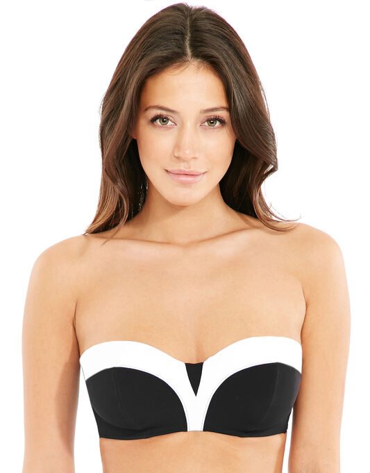 figleaves Monochrome Underwired Bandeau Bikini Top