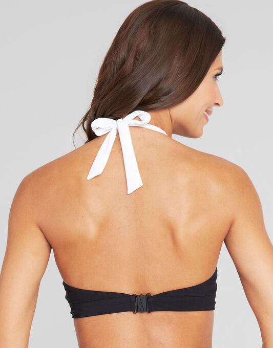 figleaves Monochrome Eyelet Soft Cup Halter Bikini Top