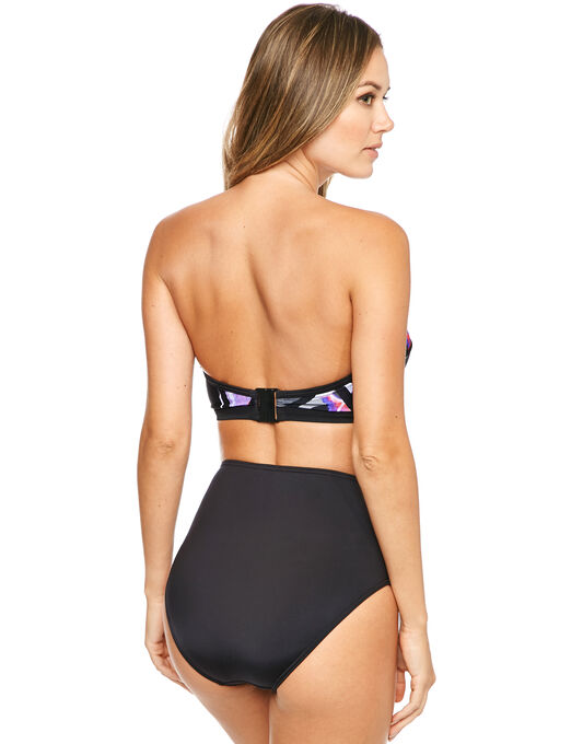 figleaves Byron Beach Underwired Bandeau Longline Scuba Bikini Top