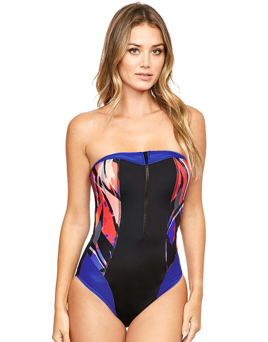 Byron Beach Underwired Bandeau Tummy Control Swimsuit