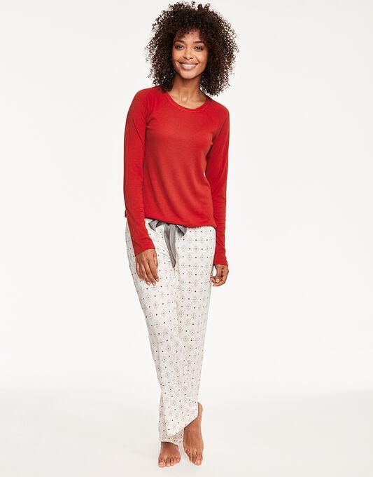 Maidenform Sleepwear Brushed Knit Shirt and Pant Set
