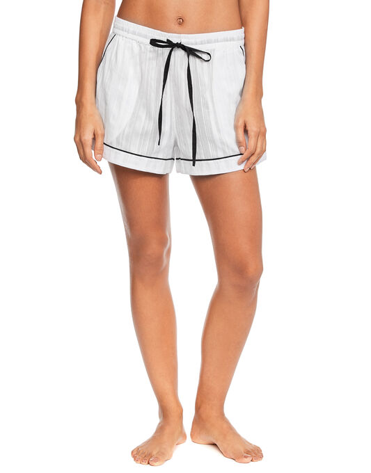Helena Contrast Piped Cotton Short