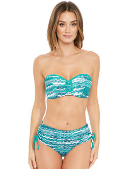 figleaves Blue Wave Underwired Bandeau Bikini Top