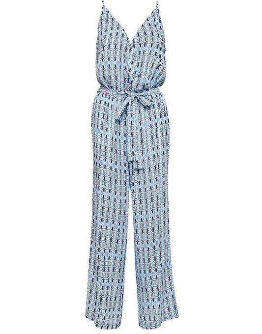 Seafolly Blue Bazaar Textured Jumpsuit