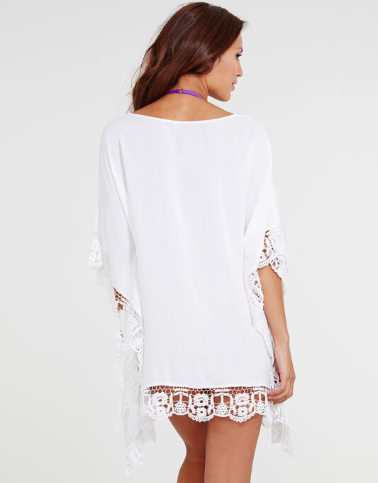 figleaves Honolulu Crochet Trim Kaftan