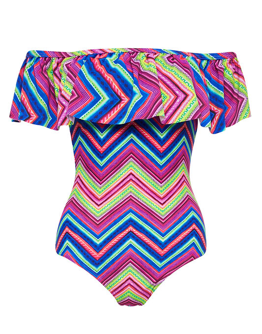 figleaves Solana Frill Off The Shoulder Swimsuit