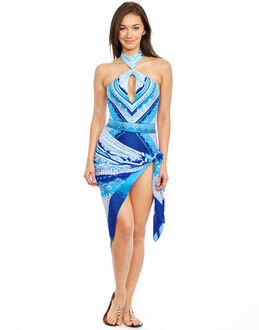 Gottex Blue Jasmine Silk Pareo