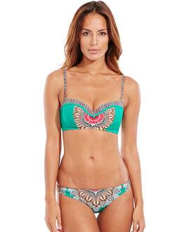 Red Carter Renaissance Underwired Bandeau Bikini Top