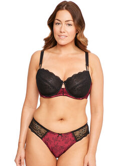 Marie Meili Joelle Satin and Lace Wire Bra