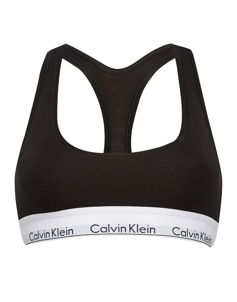 modern cotton bralette calvin klein figleaves. Black Bedroom Furniture Sets. Home Design Ideas
