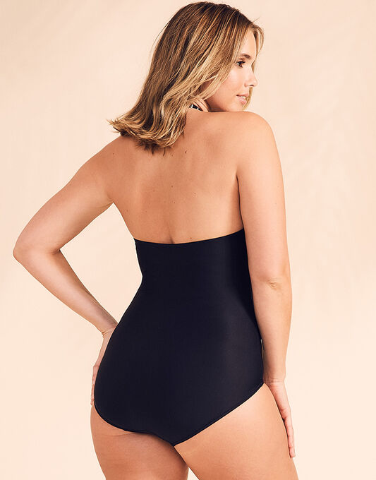 figleaves Tailor Halter Tummy Control Swimsuit