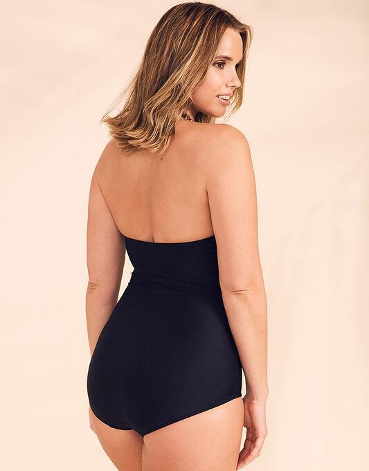 figleaves Tailor Halter Tummy Control Swimsuit - Longer Length