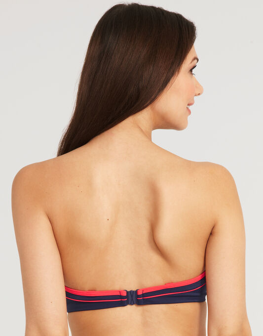 Noir Underwired Bandeau Bikini Top