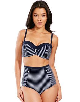 Panache Britt Stripe Bandeau Bikini Top