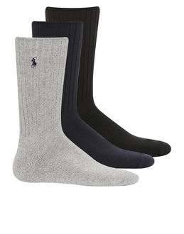 Polo Ralph Lauren Classic Solid 3 Pack Sock Gift Box