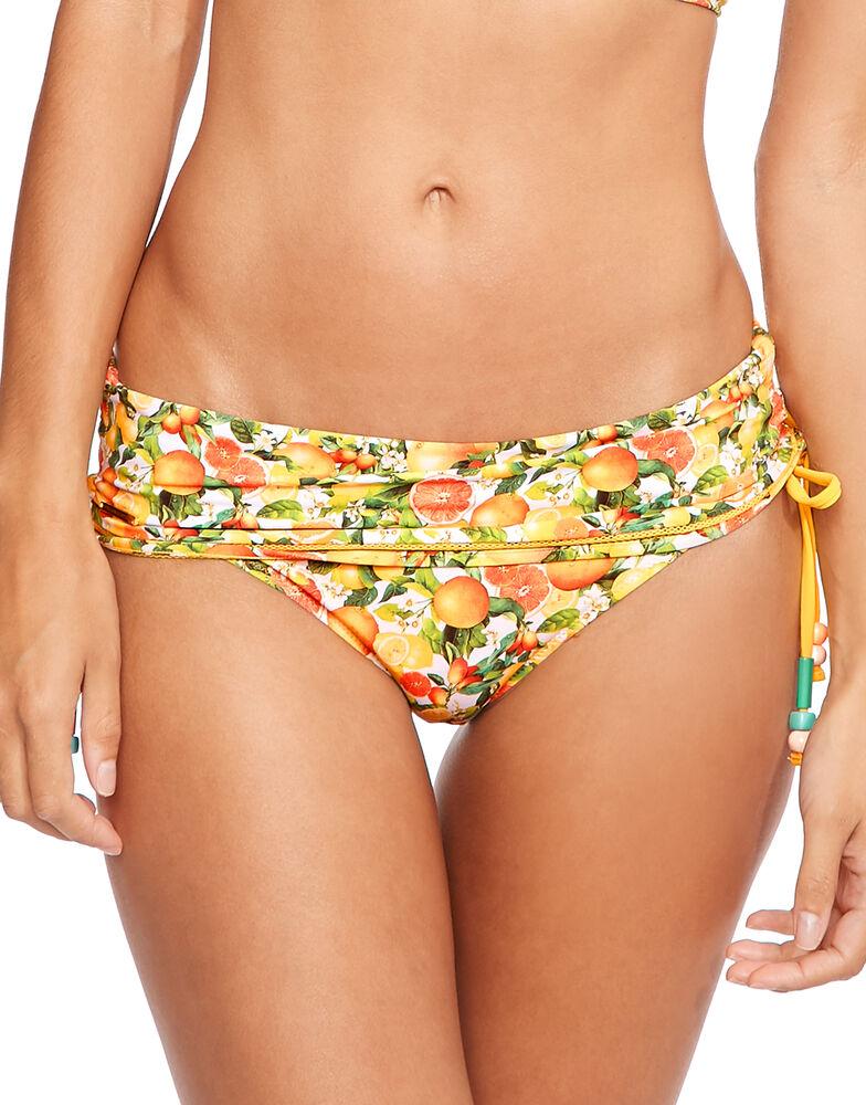 Iconic Print Fold Down Bikini Bottom
