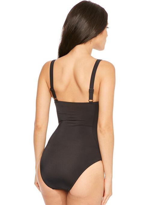 Pour Moi? Mixed Mesh Control Swimsuit