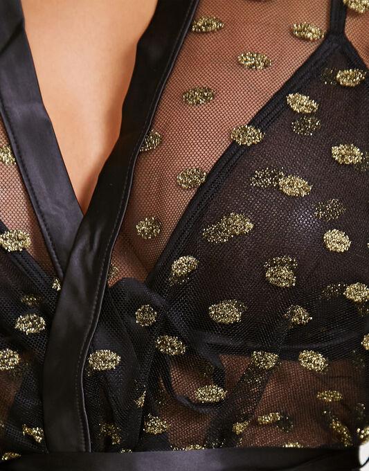 figleaves Layla Gold Spot Robe