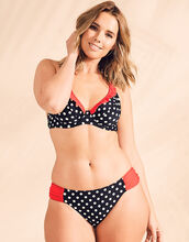 Tuscany Spot Underwired Non Padded Halter Bikini Top