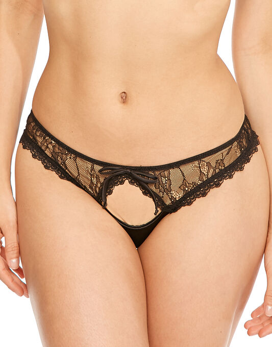 Contradiction by Pour Moi All Tied Up Open Tanga Brief