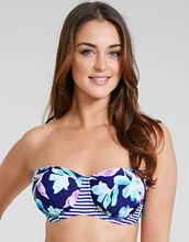 Edie Floral Underwired Bandeau Bikini Top
