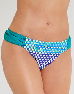 figleaves Long Island Solid Ruched Bikini Brief