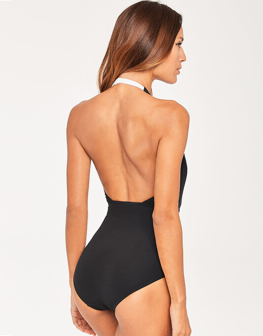 figleaves Icon Bold Shaping Black Swimsuit