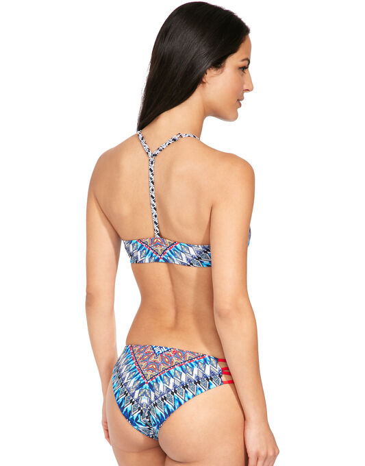 Red Carter Dream Zig Zag Cut Out High Neck Bikini Top