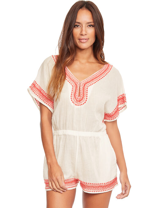 Daya Beach Cotton Playsuit