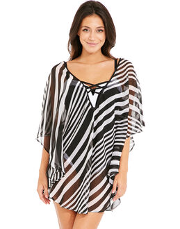 figleaves Icon Beach Mono Stripe Kaftan