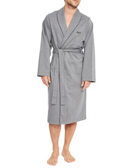 BOSS Black Herringbone Shawl Collar Robe