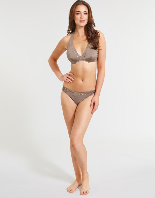 figleaves Luna Underwired Halter Bikini Top