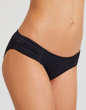 Black Seafolly Pleated Hipster Bikini Brief
