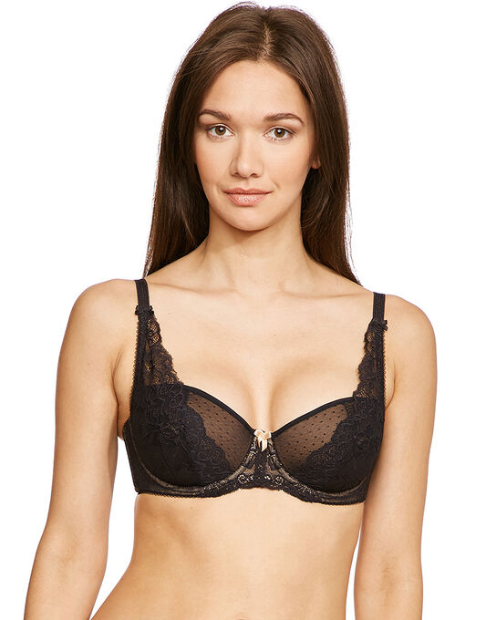figleaves Lace High Apex Padded Bra (B-G)