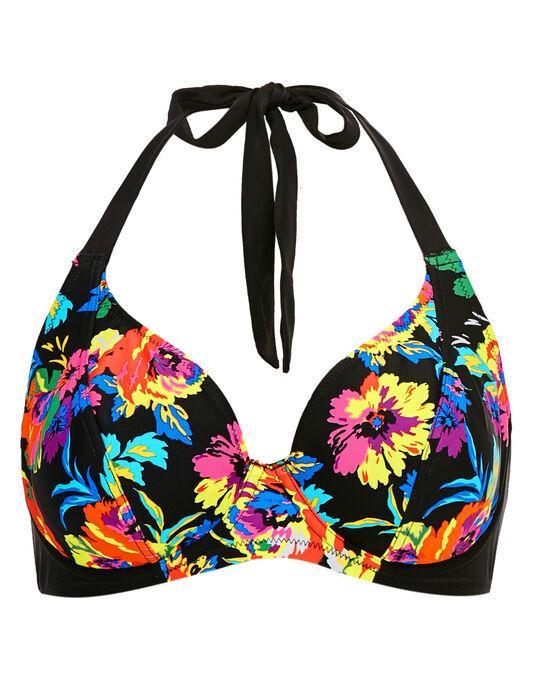Pour Moi? Black Dahlia Halter Triangle Underwired Bikini Top