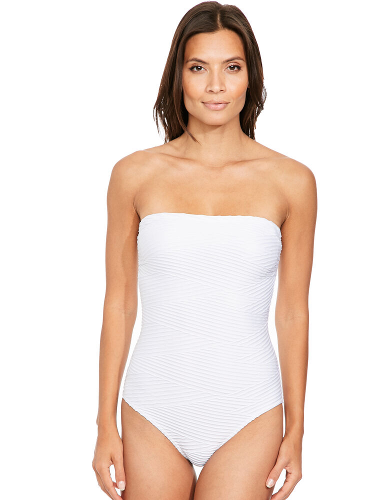 Icon Pleat Bandeau Shaping Swimsuit