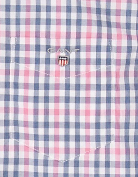 Backspin Poplin Check Short Sleeve Shirt