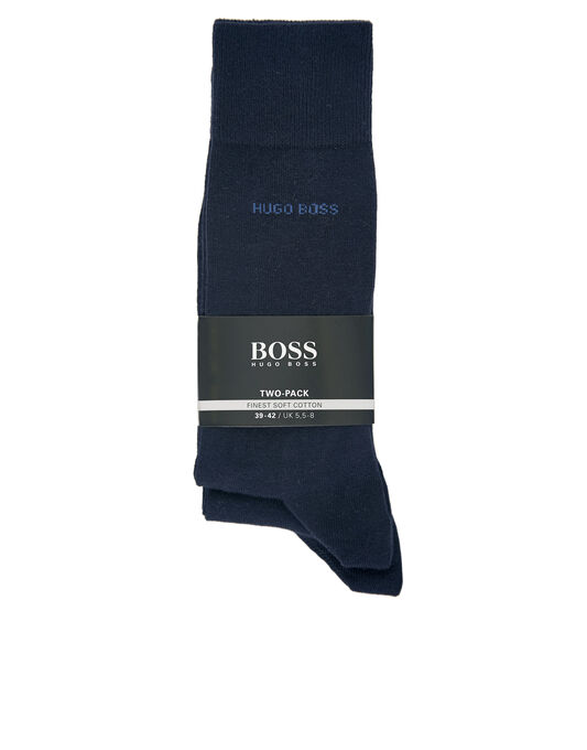 BOSS Black Essential 2 Pack Logo Socks