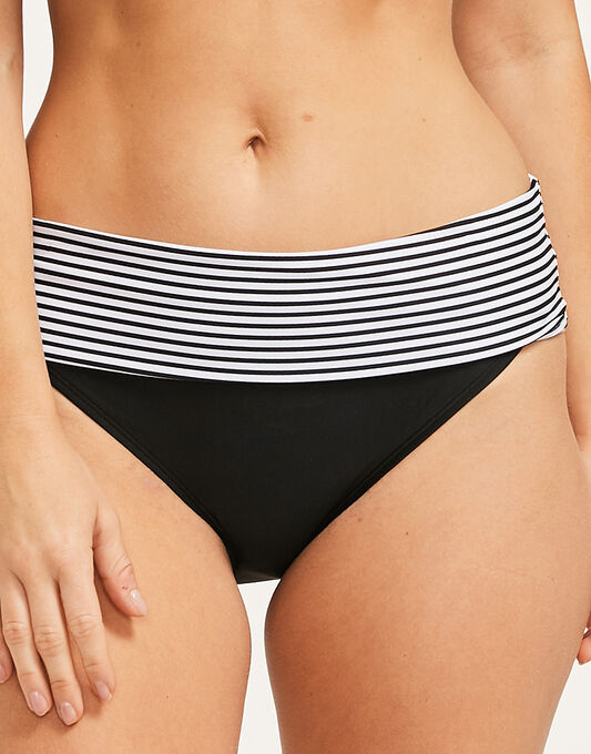 Panache Anya Stripe Fold Bikini Brief