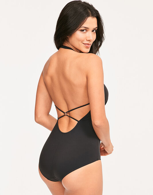 figleaves Icon Strapping Halter Shaping Swimsuit