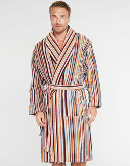 Paul Smith Multistripe Towelling Robe