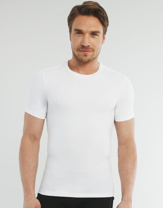 Spanx for Men Cotton Compression Crew Neck T-shirt