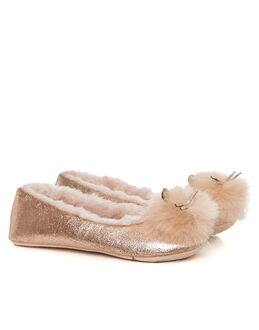 Ruby&Ed Golden Mouse Ballerina Slipper